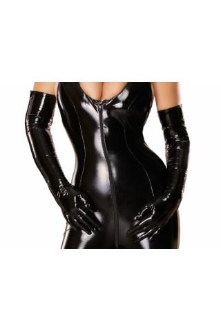 Секси и много дълги ръкавици от PVC Винил със цип