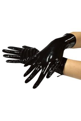 Секси къси ръкавички от PVC Винил