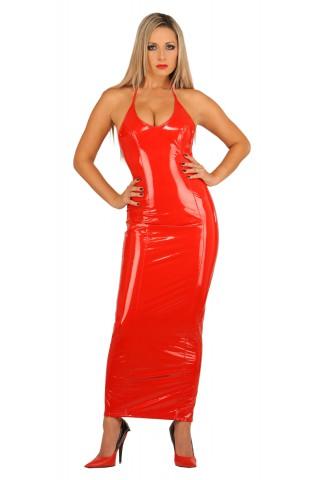 Секси дълга тясна рокля от PVC Винил