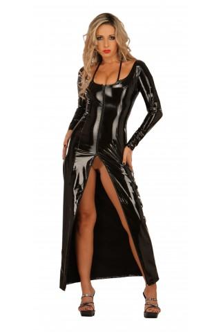 Невероятна дълга рокля от PVC Винил