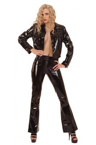 Секси и стилен панталон от Винил тип чарлстон