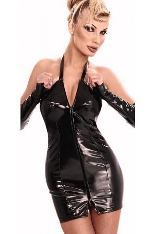 Комплект къса рокля и дълги ръкавици от Латекс - Датекс