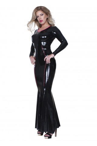 Много секси дълга рокля от Датекс - Латекс