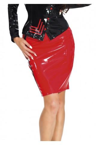 Секси пола до коленете с цветна ивица отстрани от Датекс - Латекс