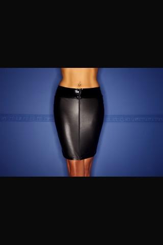 Секси къса прилепнала пола разкриваща отзад на Noir Handmade