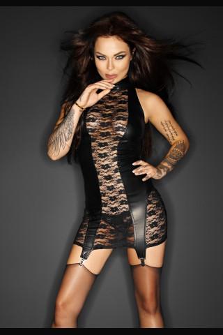 Секси къса рокля със жартиерен колан на Noir Handmade