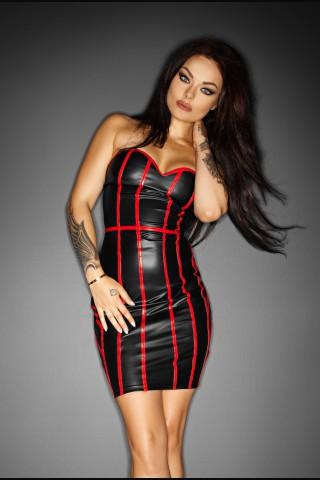 Секси рокля тип корсет със контрастни ленти на Noir Handmade