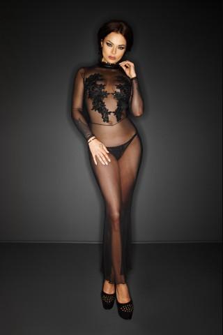 Зашеметяващо красива дълга прозрачна рокля на Noir Handmade