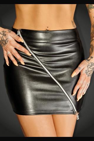 Секси много къса поличка със двустранен цип на Noir Handmade