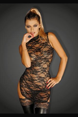 Секси къса дантелена рокличка на Noir Handmade