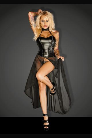 Секси разкриваща дълга рокля на Noir Handmade