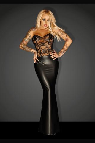Великолепна корсетна дълга рокля на Noir Handmade