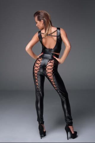 Секси комплект от Бюстие и Панталон с връзки на Noir Handmade