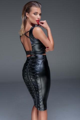Невероятно секси тясна пола с връзки отзад на Noir Handmade
