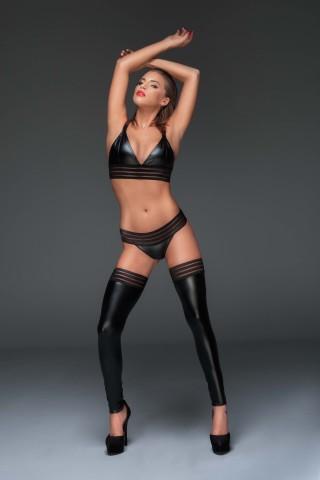 Секси комплект от Сутиен, разкриващи Прашки и Чорапи на Noir Handmade