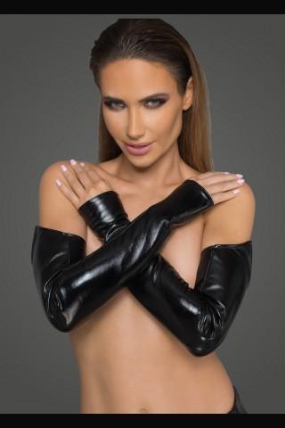 Секси дълги ръкавели от Еко кожа на Noir Handmade