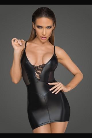 Секси рокля от Еко кожа на Noir Handmade