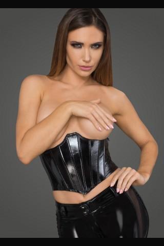 Секси къс разкриващ корсет от Еко кожа на Noir Handmade