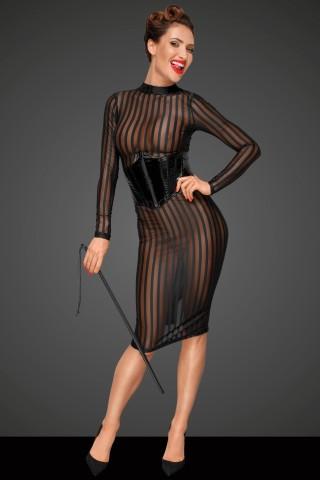 Комплект секси прозрачна Рокля с Корсет от PVC Винил на Noir Handmade