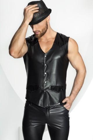 Секси кожена мъжка риза на Noir Handmade