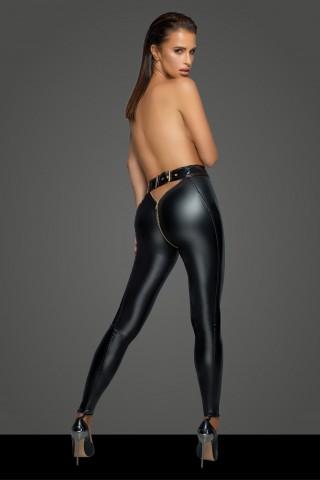 Секси клин от Еко кожа с цип между краката на Noir Handmade