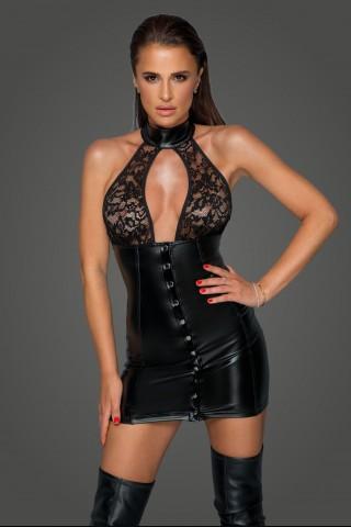 Секси разкриваща къса рокля с гол гръб на Noir Handmade