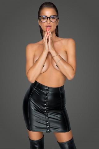 Секси къса поличка от Еко кожа на Noir Handmade