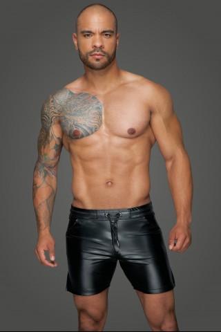 Секси мъжки къси панталони от Еко кожа на Noir Handmade
