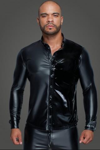 Секси мъжка риза от Еко кожа и Винил на Noir Handmade
