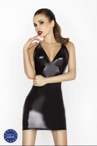 Секси черна лъскава рокличка с гол гръб на Passion - Hellen