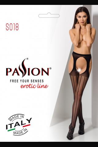 Секси изрязан мрежест фигурален чорапогащник на Passion