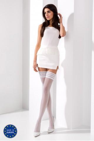 Нежни бели силиконови чорапи на Passion