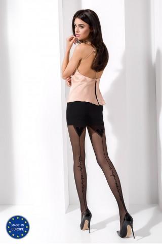 Секси тънък чорапогащник със фигурални елементи отзад на Passion