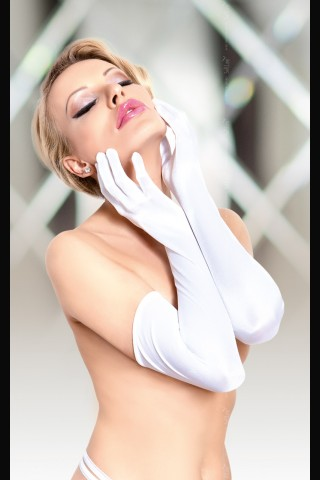 Секси и изчистени дълги сатенени ръкавици на Soft Line Collection