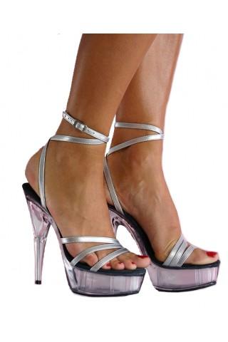Еротични Обувки на висок ток с височина на тока 14 см.