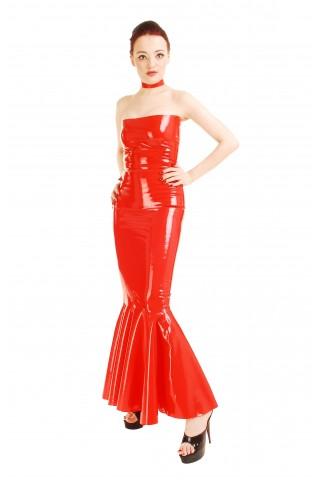 Елегантна много дълга рокля за строги господарки
