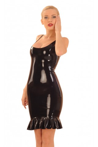 Неустоимо секси латексова рокля