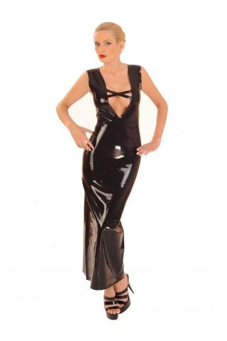 Много дълга латексова рокля за строги и елеганти господарки