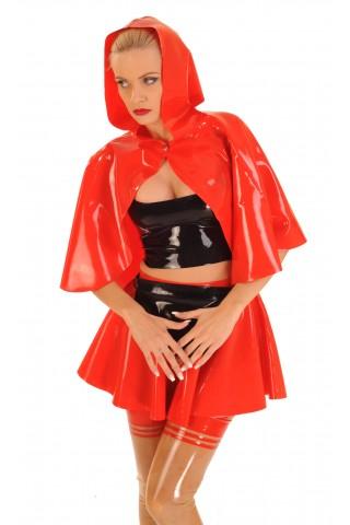 Комплект костюм на червената шапчица от Латекс