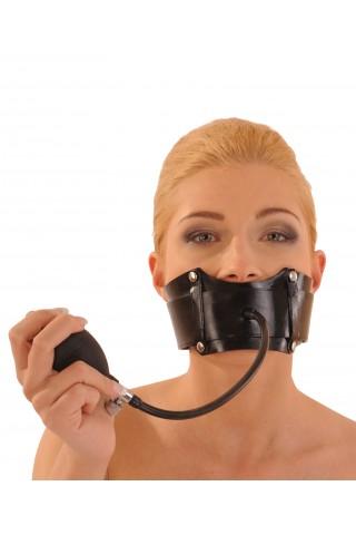 Маска за уста тип колан със надуваема тапа за устата