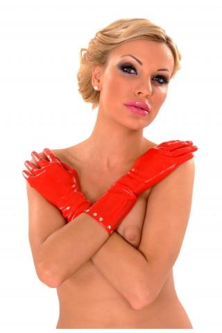 Секси ръкавици от Латекс със метални капси накрая
