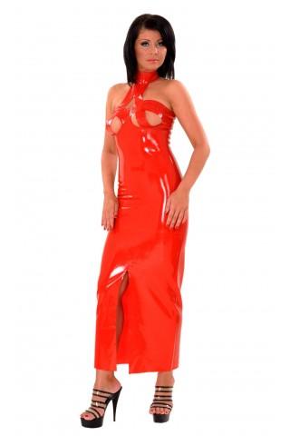 Дълга леко разкриваща рокля от Латекс за истински господарки