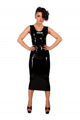 Дълга латексова рокля за жени със силен характер