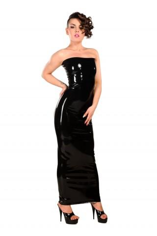 Невероятна дълга рокля от Латекс за доминиращи жени