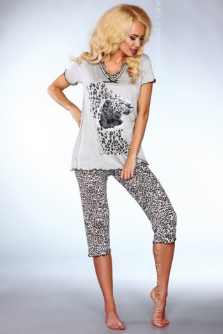 Комплект секси дамска пижама на Co Fashion с тигрови шарки