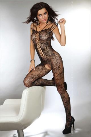 Секси мрежесто целокупно боди LivCo Nikandra Black