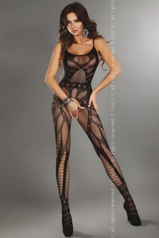 Секси мрежесто целокупно боди LivCo Vesna Black