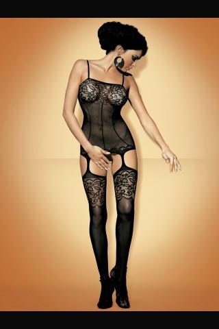 Секси мрежесто целокупно боди Obsessive с еротичен отвор отдолу.