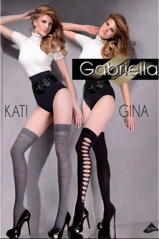 Дамски дълги чорапи със силиконова лента на Gabriella