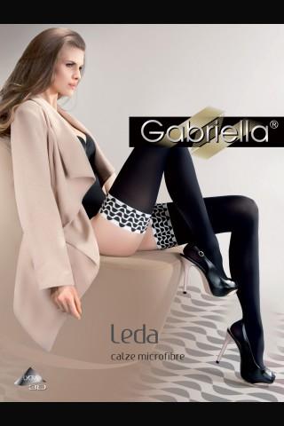 Дълги черни силиконови чорапи - Gabriella Leda